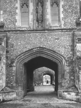 The Outer Gate of Winchester College Which Dates from 1395 by Cornell Capa