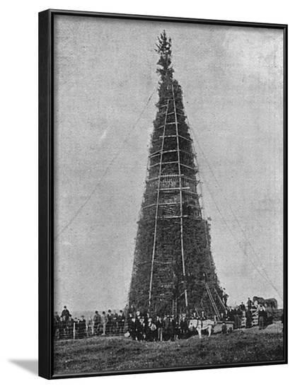 Coronation Bonfire at Whitehaven, 1902--Framed Photographic Print