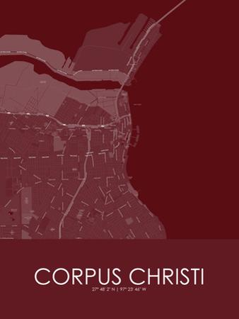 Corpus Christi, United States of America Red Map