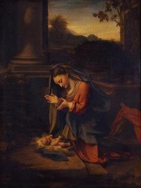 Madonna Adoring the Child, C. 1525 by Correggio