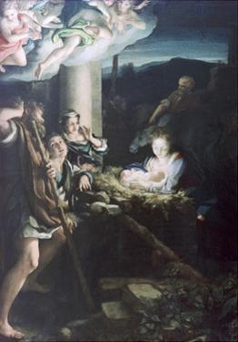 Nativity Scene, 1522-1530 by Correggio