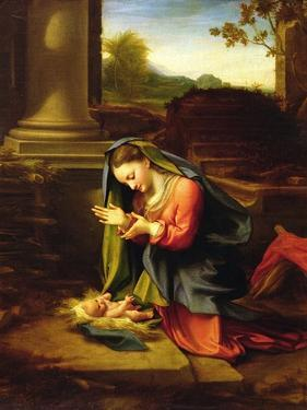 Our Lady Worshipping the Child, c.1518-20 by Correggio