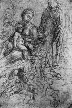 Sketches for a 'Holy Family, by Allegri Da Correggio, 1913 by Correggio