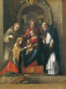 The Mystic Marriage of St. Catherine, 1510- 15 by Correggio