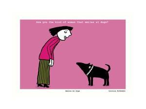 Smiles at Dogs (Pink) by Corrina Rothwell