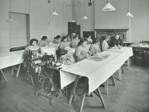 Corset Making Class, Bloomsbury Trade School for Girls, London, 1911