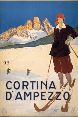 Cortina D'Ampezzo Poster, C.1920