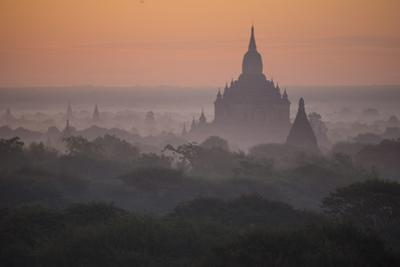 The Terraces of a Buddhist Temple in Bagan by Cory Richards