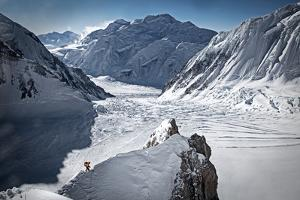 Traversing a Ridge Beneath Gasherbrum Ii in Pakistan by Cory Richards
