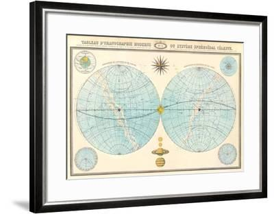 Costellazioni - Vintage Style Italian Map Poster--Framed Poster