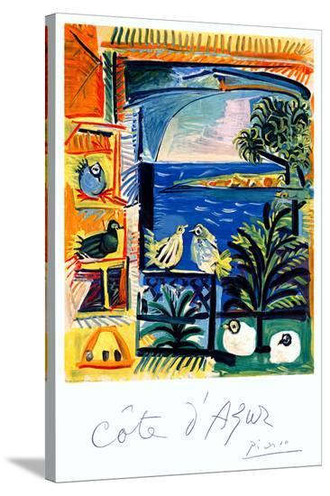 Cote d'Azur-Pablo Picasso-Stretched Canvas Print