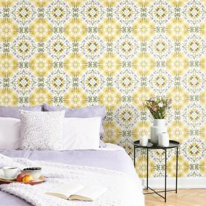 COTTAGE GARDEN KALEIDOSCOPE REMOVABLE WALLPAPER