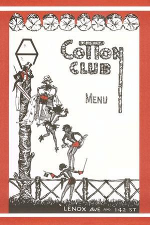 Cotton Club Menu Cover