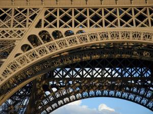 Close View Detail of the Cast Iron Eiffel Tower by Cotton Coulson