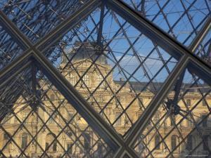 The Louvre as Seen Through the Glass Pyramid of its Entrance by Cotton Coulson