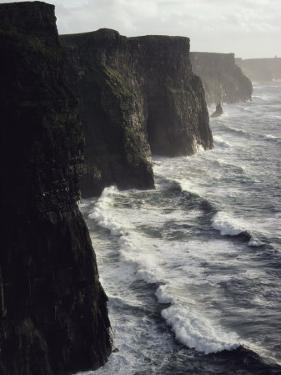 Waves Pound the Cliffs of Moher by Cotton Coulson