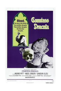 Countess Dracula, US poster, Ingrid Pitt, 1971