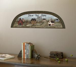 Country Arch Folk Art Accent With Wall Decal