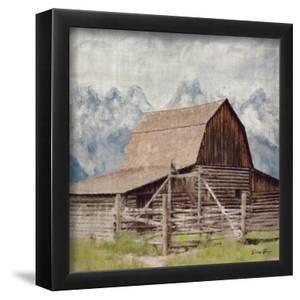 Country Barn 10 x 10 Framed Canvas