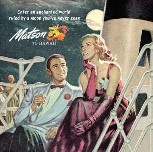 Couple in Moonlight, Matson to Hawaii