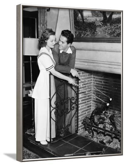 Couple Looking at Each Other in Love--Framed Photo