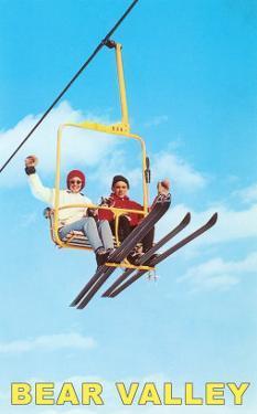 Couple on Ski Lift, Bear Valley