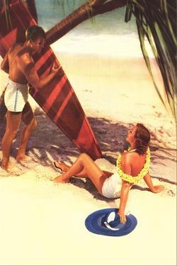 Couple Vacationing on Beach