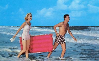 Couple with Toy Raft