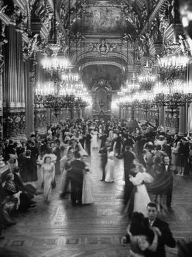 Couples Dancing in the Grand Foyer of the Paris Opera House at a Victory Ball