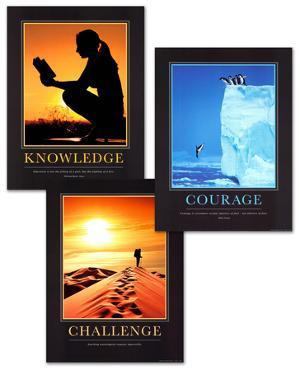 Courage, Challenge, and Knowledge Art Print Set