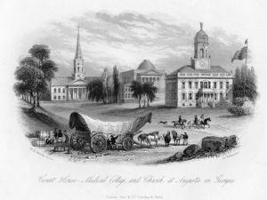 Court House - Medical College and Church, at Augusta in Georgia, 19th Century