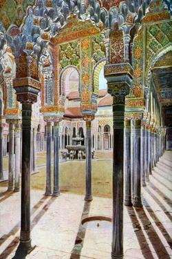 Court of the Lions, the Alhambra, Granada, Andalusia, Spain, C1924