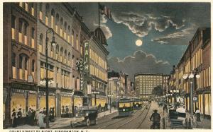 Court Street by Night, Binghamton, New York