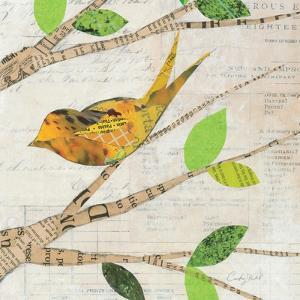 Birds in Spring II Square by Courtney Prahl