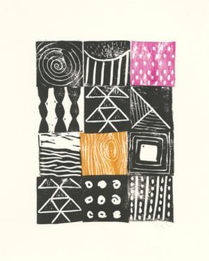 Block Print V by Courtney Prahl