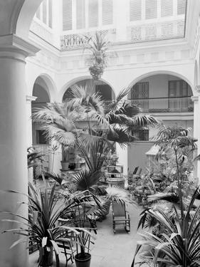 Courtyard, Hotel Florida, Havana, Cuba