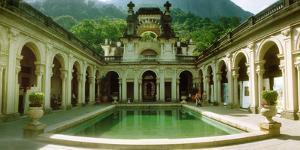 Courtyard of a Mansion, Parque Lage, Jardim Botanico, Corcovado, Rio De Janeiro, Brazil