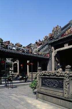 Courtyard of Five Genii Temple, Canton (Guangzhou), China