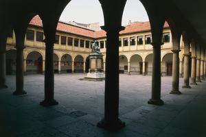 Courtyard of University, Oviedo, Asturias, Spain, 16th-17th Century