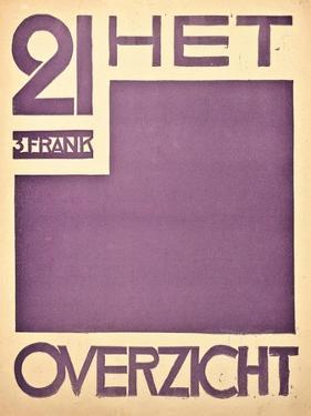 Cover for the Magazine 'Het Overzicht', C. 1922-1925