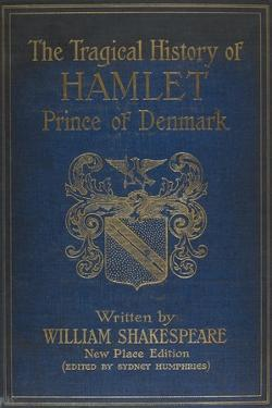 Cover For the Play by Shalespeare, Hamlet. Illustrated With a Coat Of Arms.