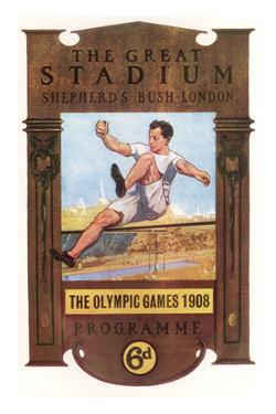 Cover of Programme for 1908 Olympic Games in London