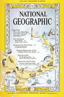 Cover of the August, 1962 National Geographic Magazine