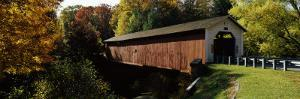 Covered Bridge in Forest, Mcgees Mill Covered Bridge, Mcgees Mills, Clearfield County, Pennsylvania
