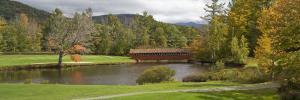 Covered Bridge in Golf Course, Jack O'Lantern Golf Course, Thornton, Grafton County, New Hampshire