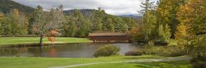 Covered Bridge in Golf Course, Jack O'Lantern Golf Course, Thornton, Grafton County, New Hampshire