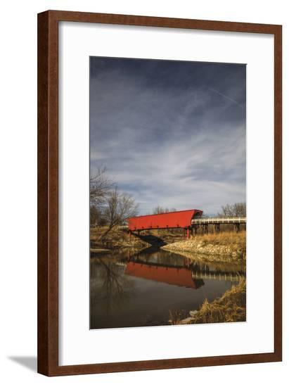 Covered Bridge In Iowa Madison County-Jason Matias-Framed Giclee Print