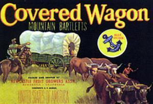 Covered Wagon - Fruit Label