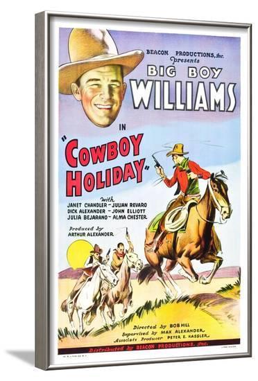 Cowboy Holiday--Framed Art Print