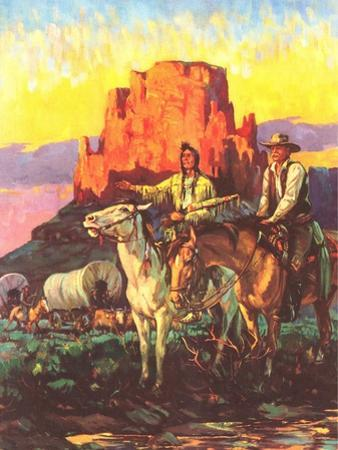 Cowboy, Indian, Covered Wagons